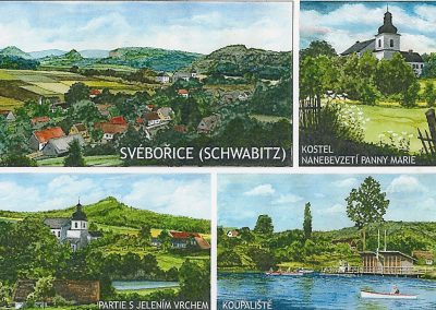 Pohled Svébořice - zlikvidovaná obec v bývalém vojenském újezdu Ralsko