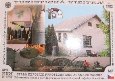 Turistická vizitka, Stálá expozice pyrotechnické asanace Ralska